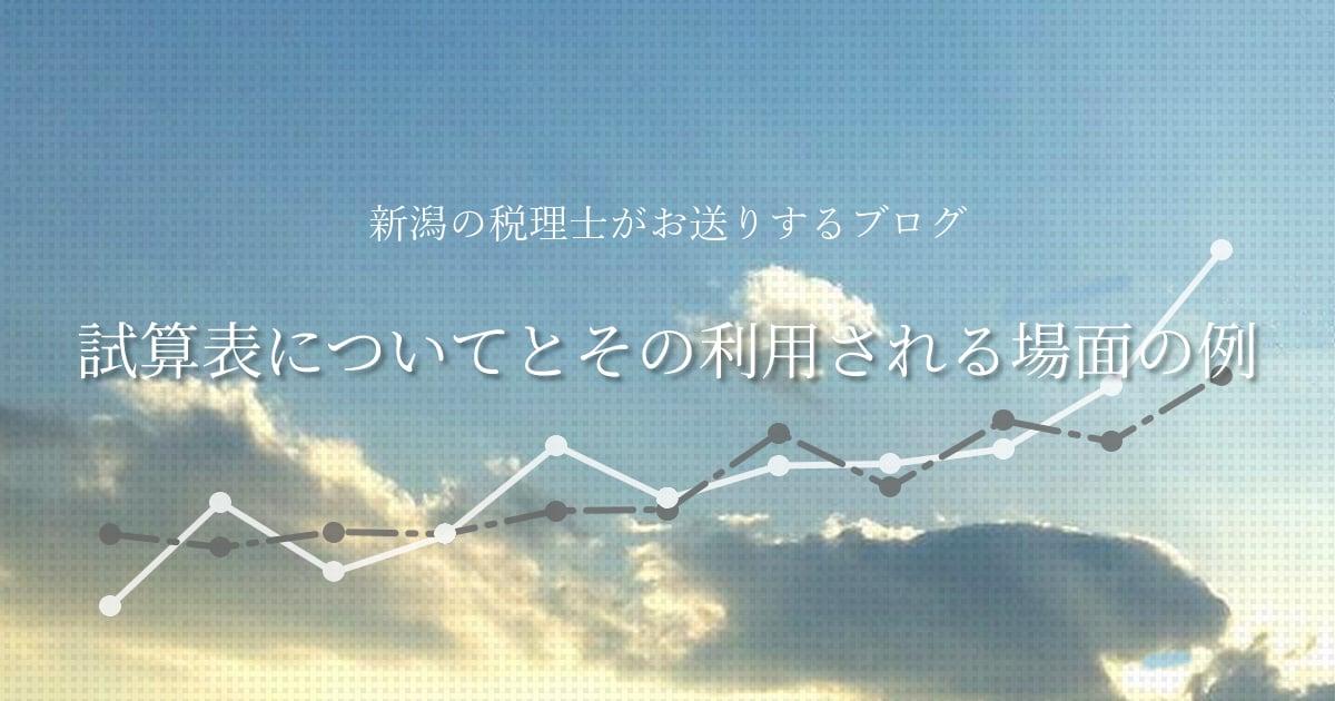 【試算表についてとその利用される場面の例】新潟の税理士がお送りするブログ